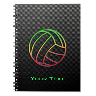 Colorful Volleyball Spiral Notebook