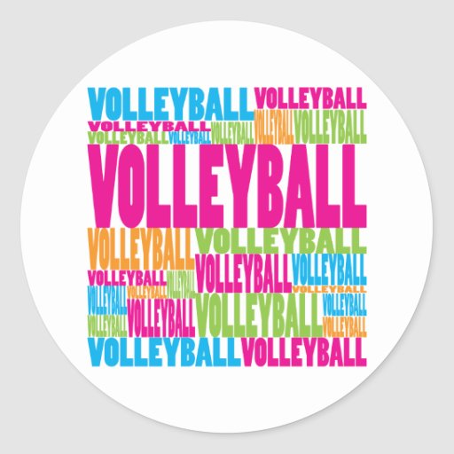 Colorful Volleyball Stickers