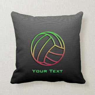 Colorful Volleyball Throw Pillow