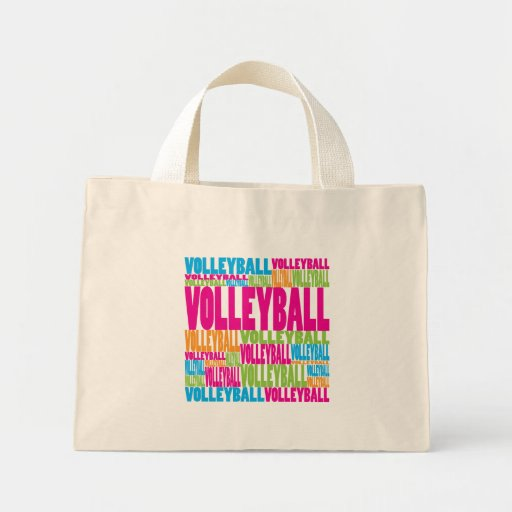 Colorful Volleyball Tote Bag