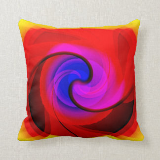 Colorful Vortex Abstract Art Throw Pillows