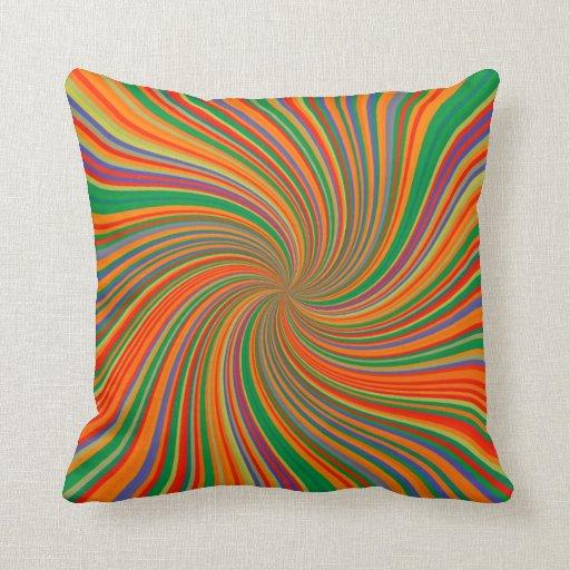 Colorful Vortex Pillow