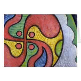 Colorful Voyageur Motif Greeting Card