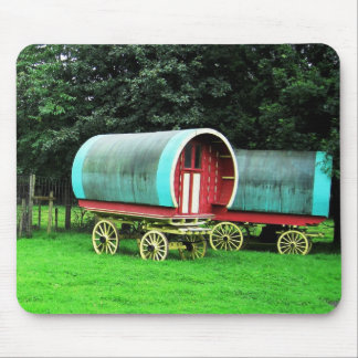 Colorful wagons, Bunratty Village, Ireland Mouse Pad