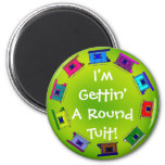 Colorful Wagons Circle 2 Inch Round Magnet