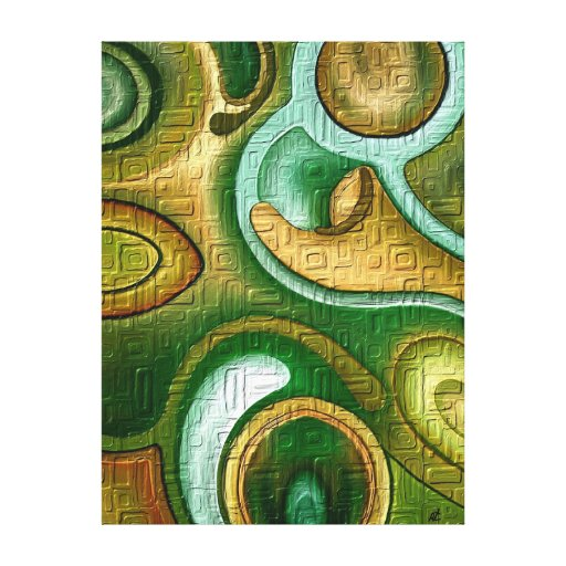 Colorful wall by rafi talby stretched canvas prints