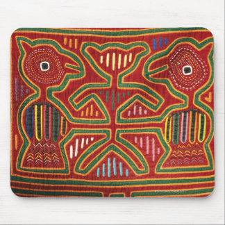 Colorful Wall Hanging of Cuna Indians 2 Mouse Pad