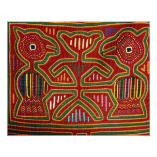 Colorful Wall Hanging of Cuna Indians 2 Poster