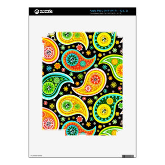 Colorful Warm Tones Vintage Paisley Pattern Decal For iPad 3