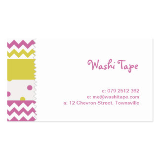 Colorful Washi Tape Business Card