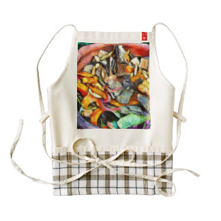 Colorful waste ready for composting zazzle HEART apron