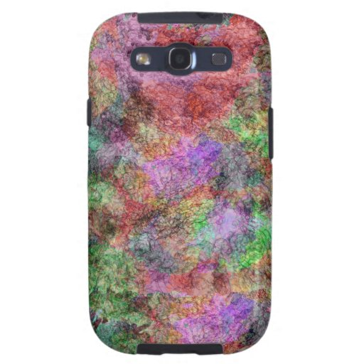 Colorful Water Color Swirl Mist Samsung Galaxy S3 Covers