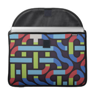 Colorful water pipes abstract design MacBook pro sleeve