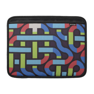 Colorful water pipes abstract design MacBook sleeves