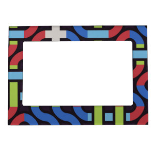 Colorful water pipes abstract design magnetic frame