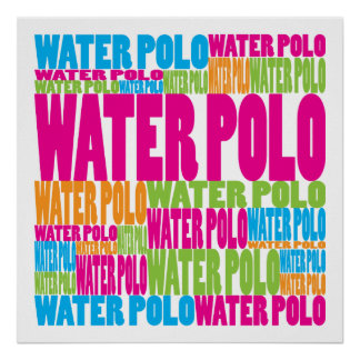 Colorful Water Polo Poster