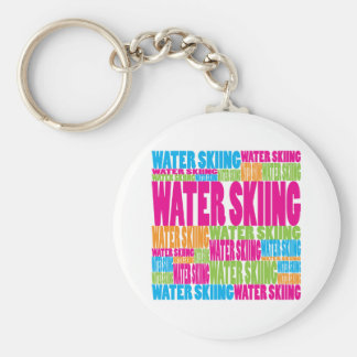 Colorful Water Skiing Keychain