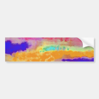 Colorful Watercolor abstract Bumper Sticker