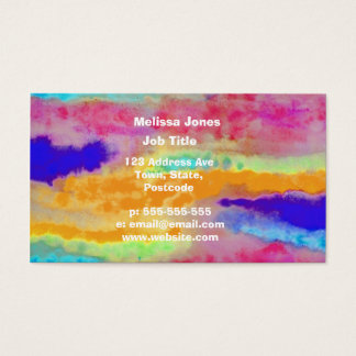 Colorful Watercolor abstract Business Card