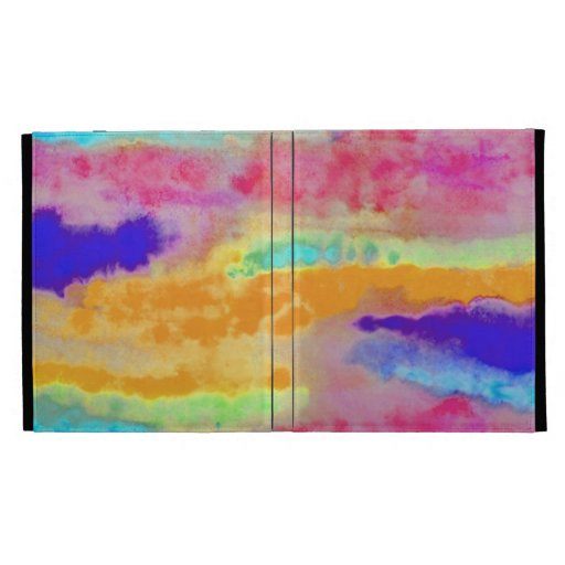 Colorful Watercolor abstract iPad Folio Cases