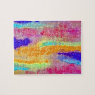 Colorful Watercolor abstract Jigsaw Puzzle