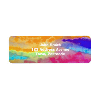 Colorful Watercolor abstract Label