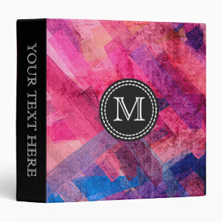 Colorful Watercolor Abstract Pattern #11 3 Ring Binder