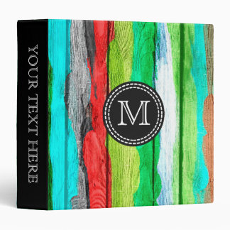 Colorful Watercolor Abstract Pattern #4 3 Ring Binder