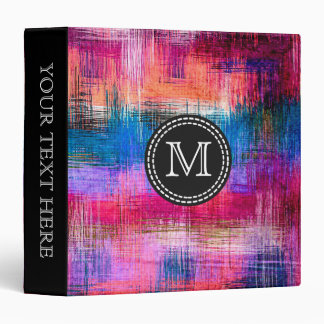 Colorful Watercolor Abstract Pattern #8 3 Ring Binder