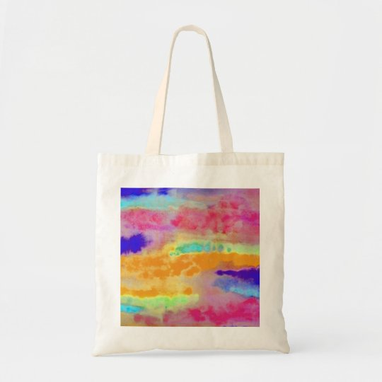 Colorful Watercolor abstract Tote Bag