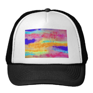 Colorful Watercolor abstract Trucker Hat