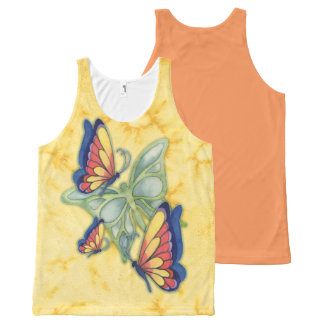 Colorful Watercolor Butterflies Tank Top All-Over Print Tank Top
