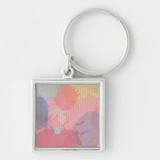 Colorful Watercolor Cardboard Abastract Art Keychain