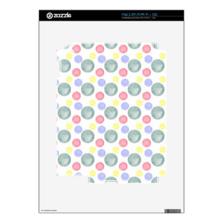 Colorful Watercolor Circle Pattern Decals For The iPad 2