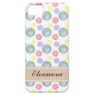Colorful Watercolor Circle Pattern iPhone SE/5/5s Case