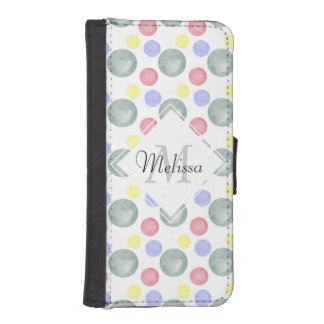 Colorful Watercolor Circle Pattern iPhone SE/5/5s Wallet
