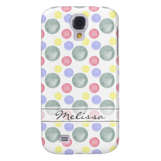 Colorful Watercolor Circle Pattern Samsung Galaxy S4 Cover