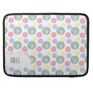 Colorful Watercolor Circle Pattern Sleeve For MacBooks