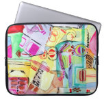 Colorful watercolor drawing laptop sleeve