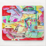 Colorful watercolor drawing mouse pads