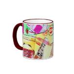 Colorful watercolor drawing mug