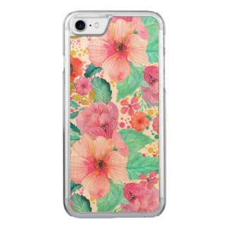 Colorful WaterColor Floral Collage