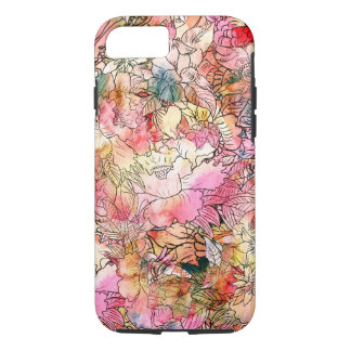 Colorful Watercolor Floral Pattern Abstract Sketch iPhone 7 Case