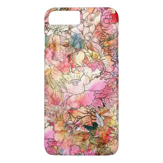 Colorful Watercolor Floral Pattern Abstract Sketch iPhone 8 Plus/7 Plus Case