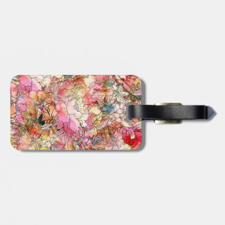 Colorful Watercolor Floral Pattern Abstract Sketch Luggage Tag