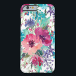 "Colorful Watercolor Floral Pattern Barely There iPhone 6 Case<br><div class=""desc"">Stylish and feminine,  this floral design features watercolor blossoms in pinks,  purples and blues.</div>"