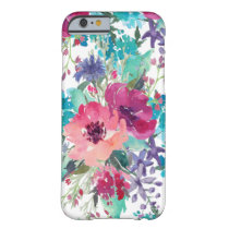 Colorful Watercolor Floral Pattern Barely There iPhone 6 Case