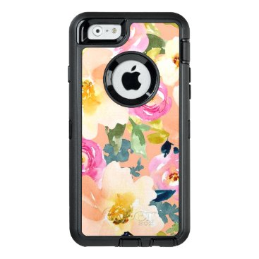 Colorful Watercolor Floral Pattern OtterBox iPhone