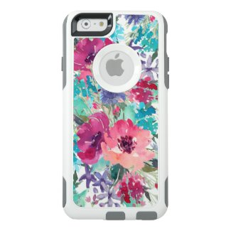 Colorful Watercolor Floral Pattern OtterBox iPhone Case