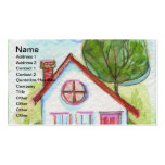 Colorful Watercolor House Double-Sided Standard Business Cards (Pack Of 100)